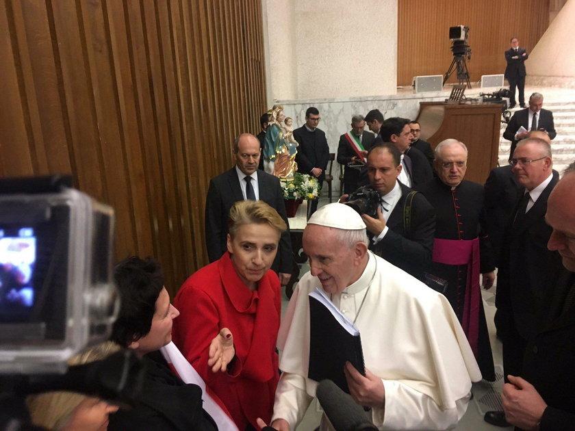 Joanna Scheuring-Wielgus spotkała się z papieżem