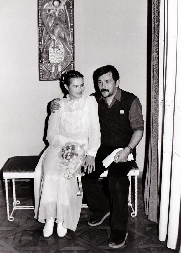 Fotogrfija sa venčanja Olivere i Đorđa Balaševića