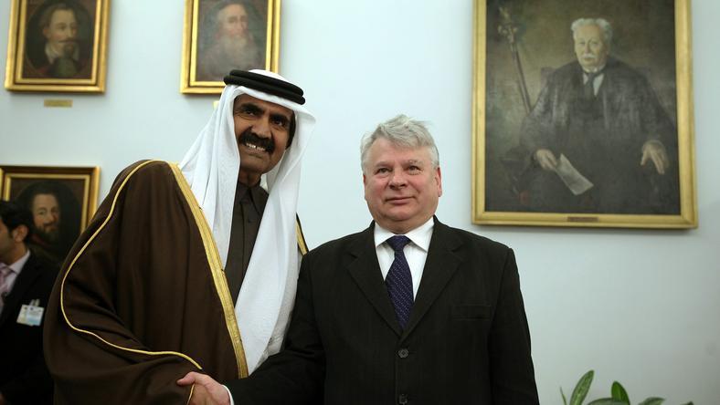 Emir Kataru z wizytą w Warszawie