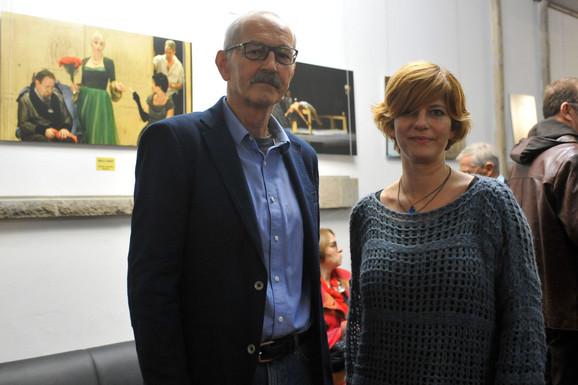 Radovan Baja Vujović i scenografkinja Mia David