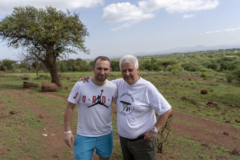 Krzysztof Drabik i Marek Krakus, założyciel Furaha center w Kenii