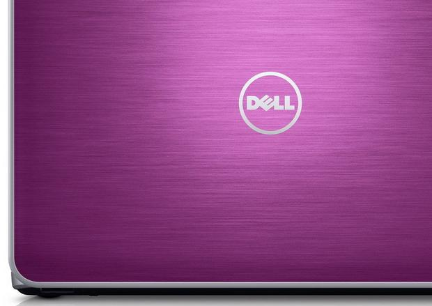Klapa laptopa DELL wykończona szczotkowanym aluminium, fot. DELL