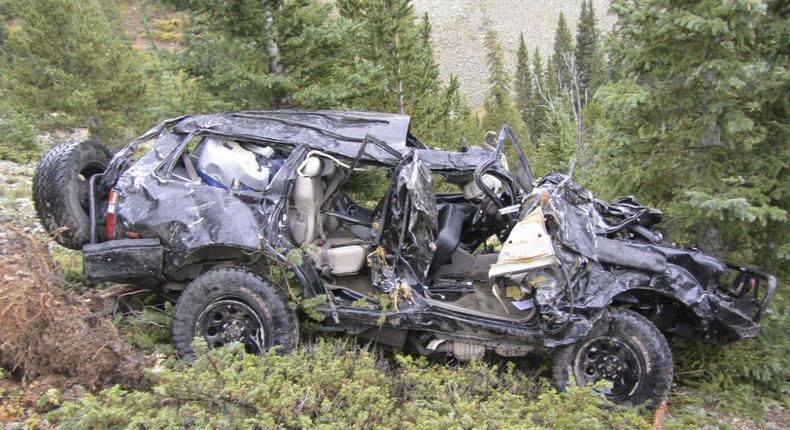 File image of a vehicle that was involved in an accident