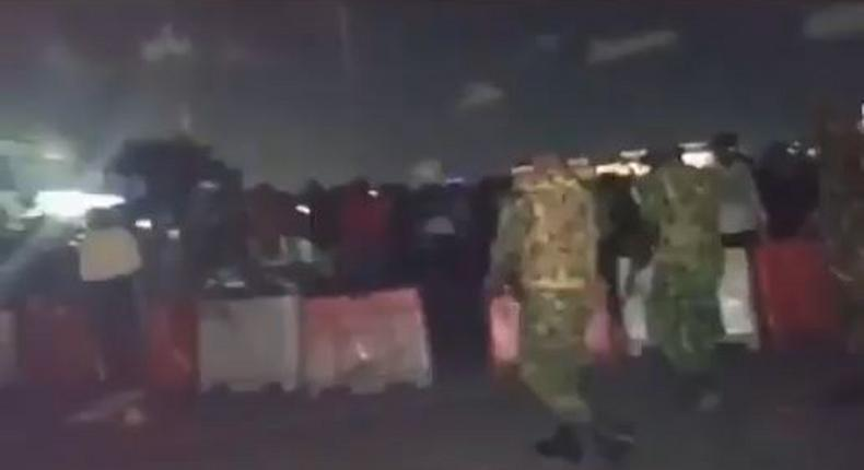 Nigerian soldiers shoting at peaceful protesters at the Lekki toll gate