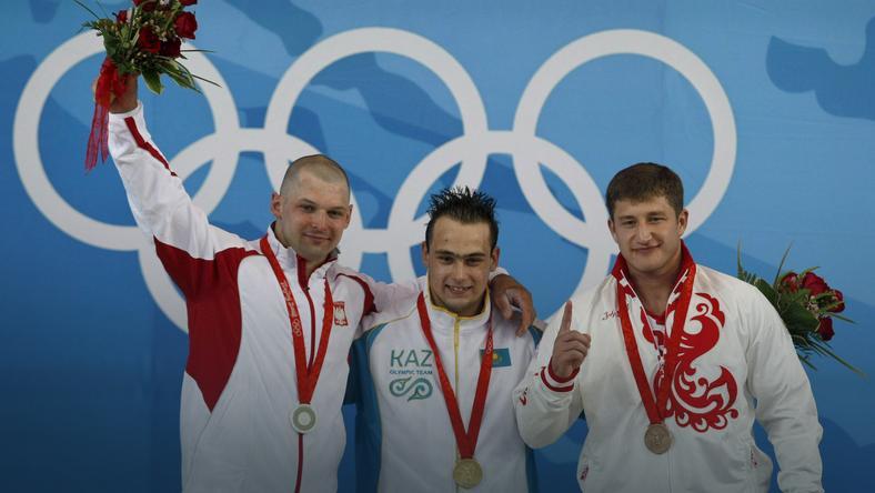 Szymon Kołecki jeszcze ze srebrnym medalem
