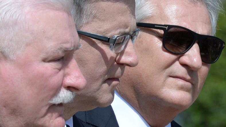 Lech Wałęsa, Bronisław Komorowsk i Aleksander Kwaśniewski