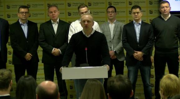 Dragan Đilas na današnjoj konfereniji za novinare