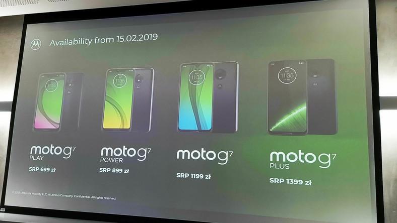 Rodzina Moto G7 - ceny