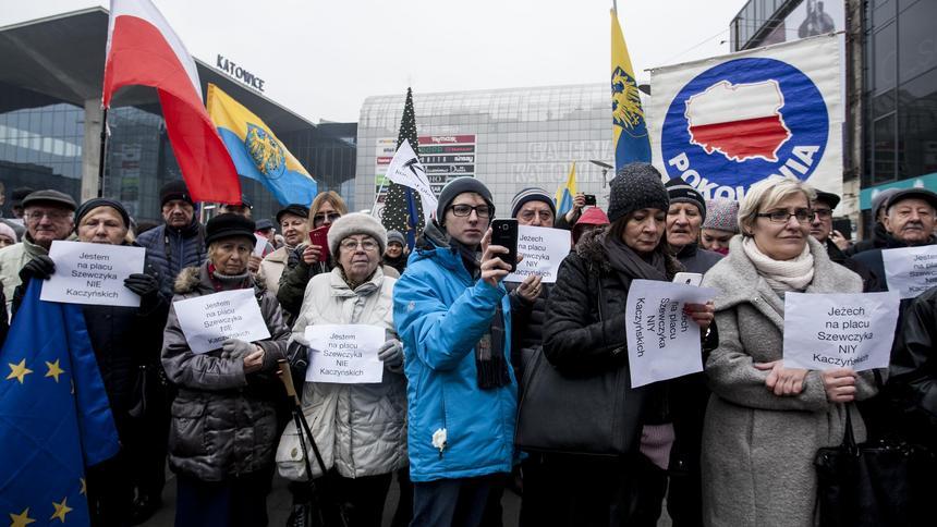 Nie dla Kaczyńskich! Protest w Katowicach