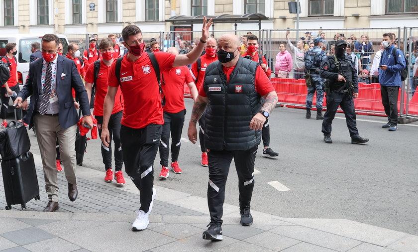Pilka nozna. Euro 2020. Reprezentacja Polski. Przyjazd do hotelu. 13.06.2021