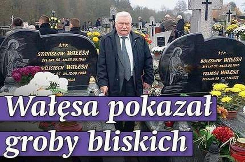 Wałęsa pokazał groby bliskich