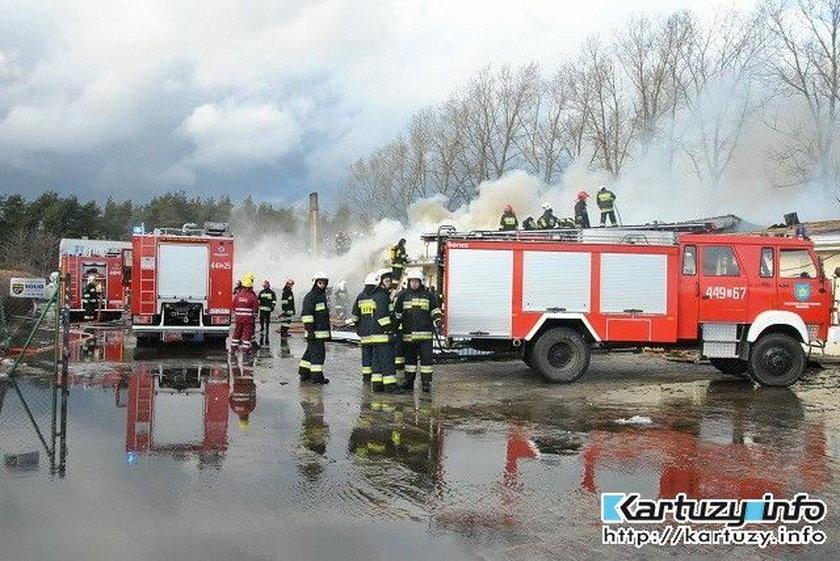 Pożar stlarni w Kiełpinie