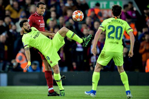 Detalj sa revanš meča Liverpul - Barselona u polufinalu Lige šampiona