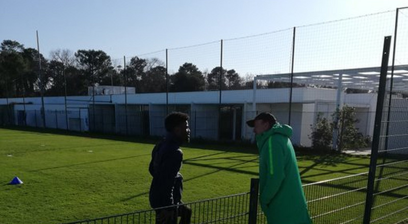 Super Eagles coach Gernot Rohr visits his Bordeaux to see Nigerian players Samuel Kalu and Josh Maja