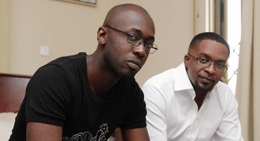 Pascal Aka with Interception actor Benny Blanco Jnr.