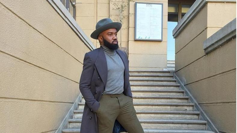 Noble Igwe in smart casual outfit