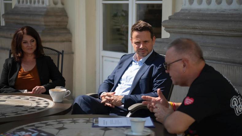 Spotkanie Rafała Trzaskowskiego z Jerzym Owsiakiem