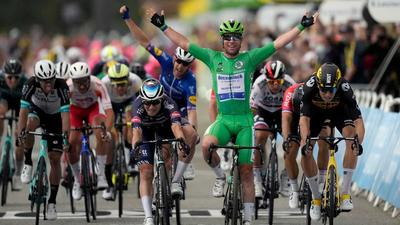 Mark Cavendish just tied the record for most Tour de France stage wins - equaling the GOAT, Eddy Merckx