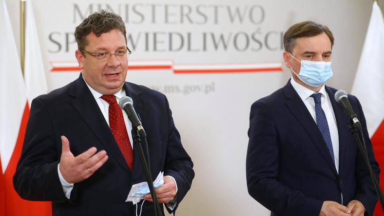 Michał Wójcik i Zbigniew Ziobro