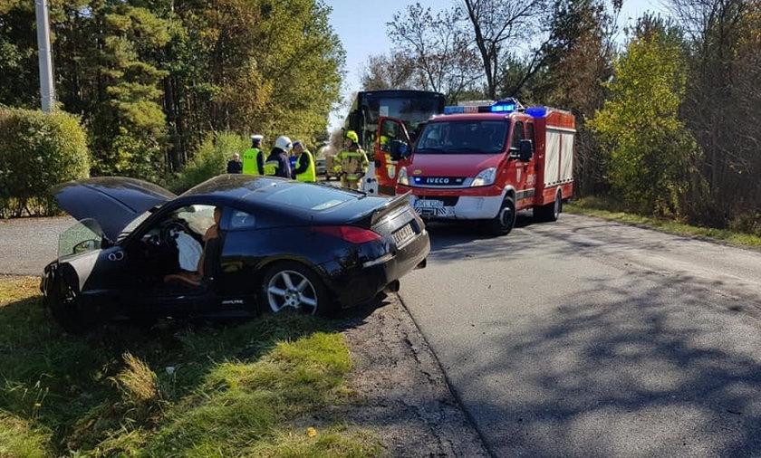 Na drodze pomiędzy Kamykiem a Miedźnem k. Częstochowy doszło do wypadku z udziałem dzieci.