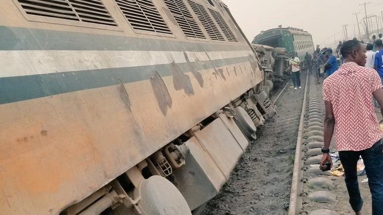 Train accident in Agege in January, 2019 (@Moluabi1 on Twitter)