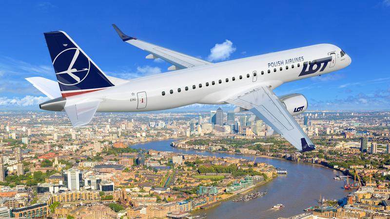 Tak będzie wyglądał Embraer 190 LOT-u nad Londynem