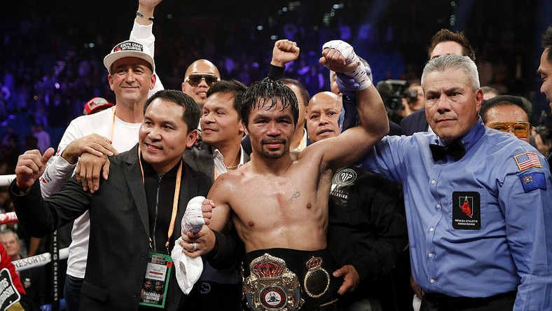Manny Pacquiao retains WBA welterweight title with dominant win over Adrien Broner (AP)