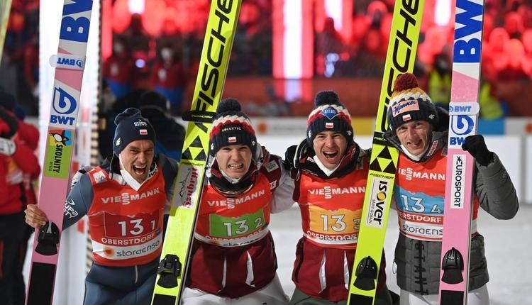 MŚ w Oberstdorfie: Polacy z brązowym medalem. Co za emocje!