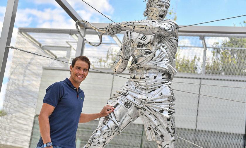 Roland Garros 2021 - Odsloniecie pomnika Rafaela Nadala
