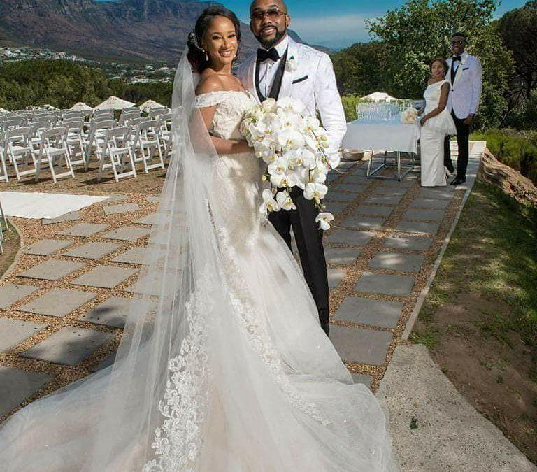 Banky W and Adesua Etomi on their fairytale wedding day in South Africa [Credit: Crescence Elodie]