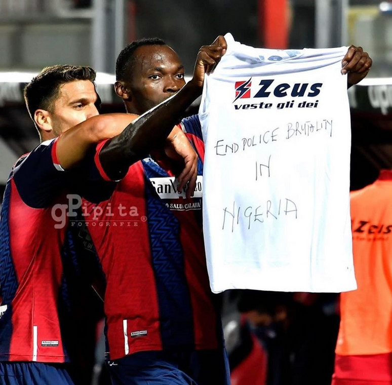Simy Nwankwo also took the campaign to Serie A screens (Instagram/Simy Nwankwo)