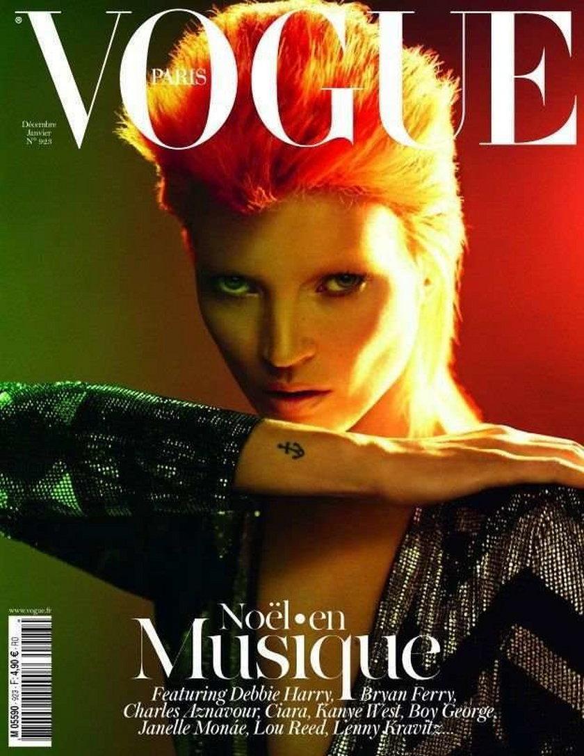 Kate Moss Vogue grudzieiń 2011 styczeń 2012