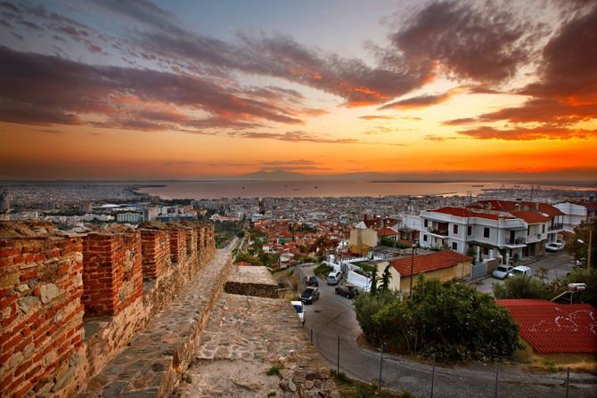 Pogled na Solun sa tvrđave u Ano Poliju