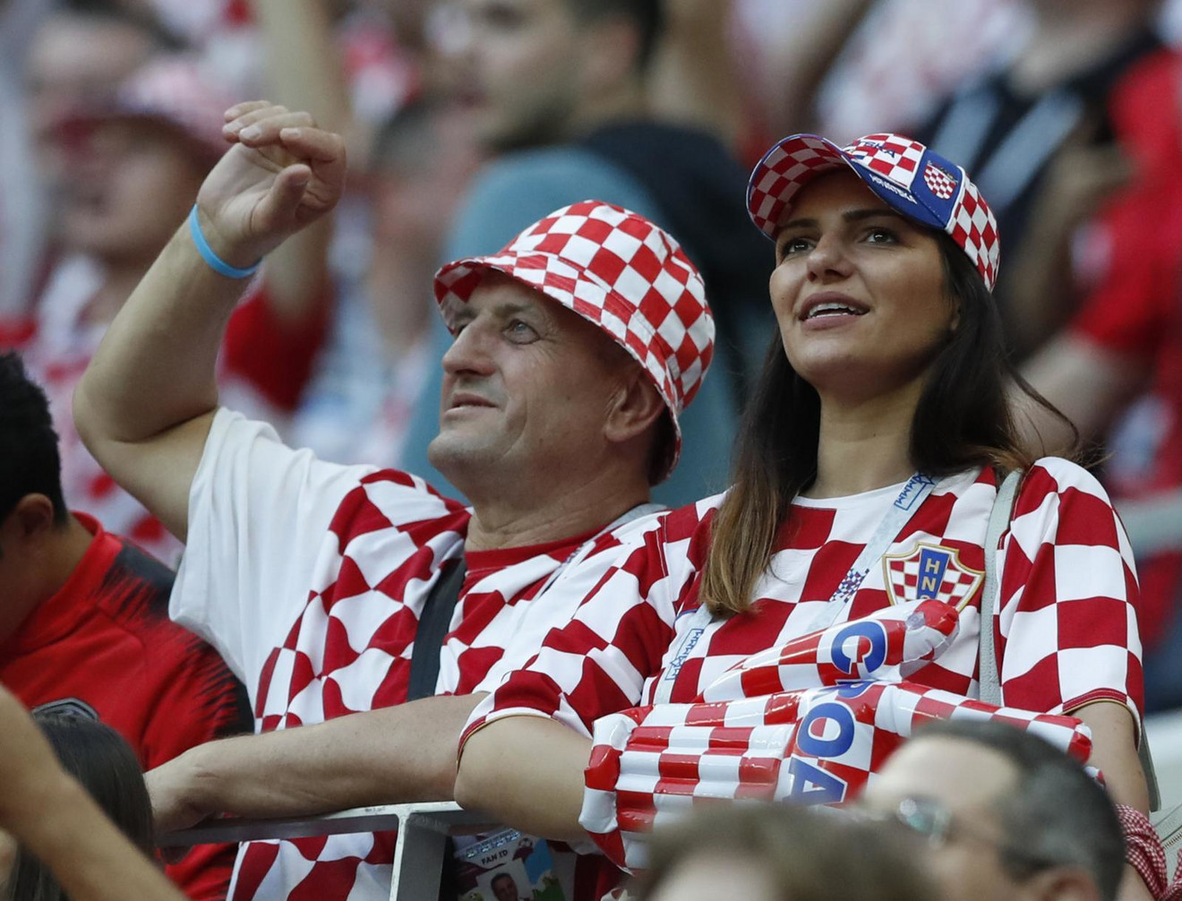 Prelepa Hrvatica na tribinama