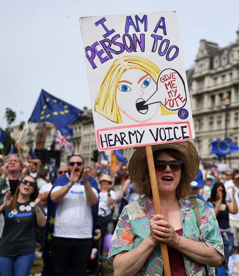 epa06833887 - BRITAIN BREXIT PEOPLES MARCH (People's March Against Brexit in London)