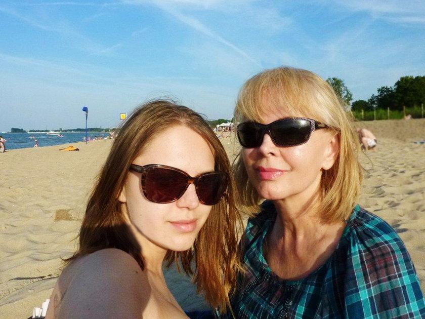 Izabela Trojnowska z córką Roxanną
