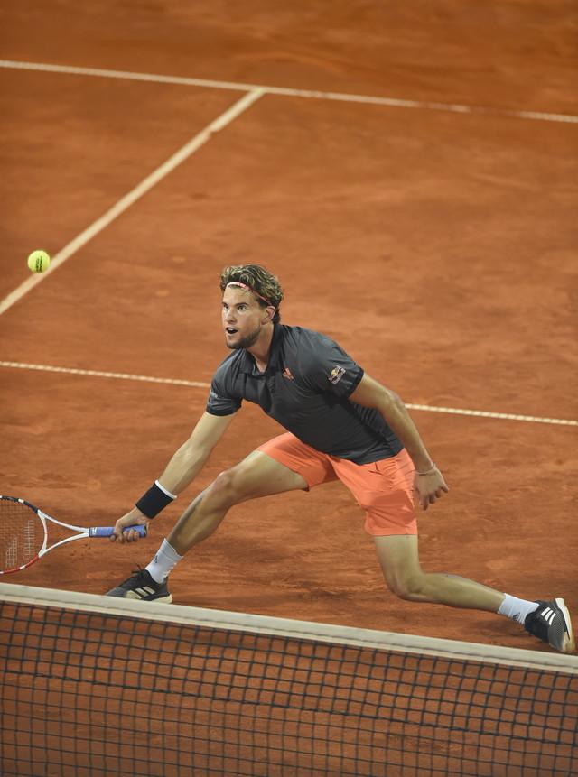 Austrijanac Dominik Tim tokom finala Adria tour turnira u Beogradu protiv Filipa Krajinovića