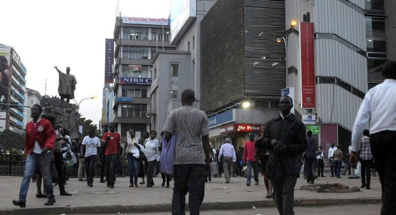 People walking to work in Nairobi - Photo Courtesy