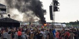 Pożar na Open'erze. Samochód stanął w ogniu w tłumie ludzi!