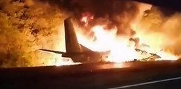 Katastrofa samolotu na Ukrainie. Dramatyczna relacja świadka. Mężczyzna płonął, jak pochodnia