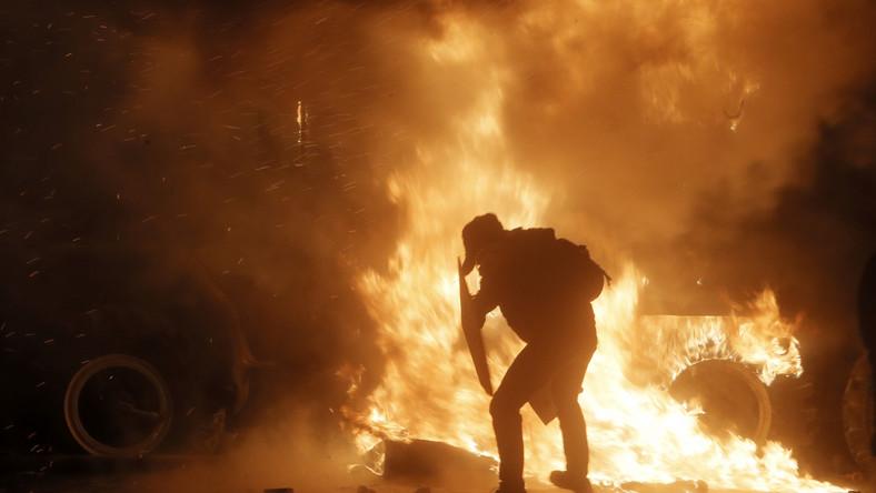 Nocne zamieszki w Kijowie
