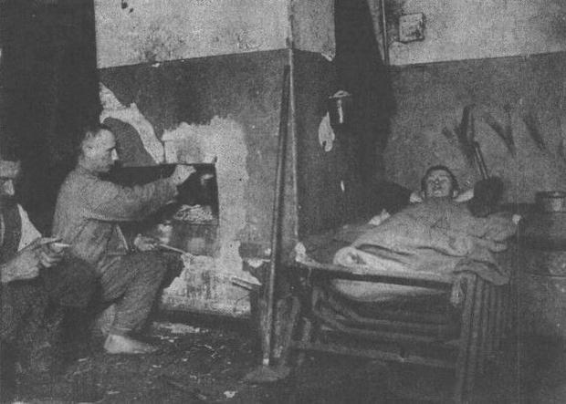 Jeńcy na Isosaari w 1918 r.