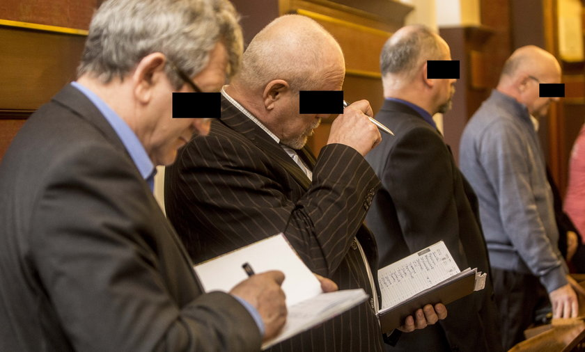 Oskarżeni podczas publikacji wyroku w Sądzie Apelacyjnym