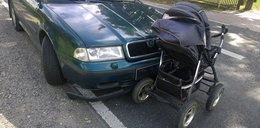Samochód staranował wózek z niemowlęciem. Dziecko zmarło