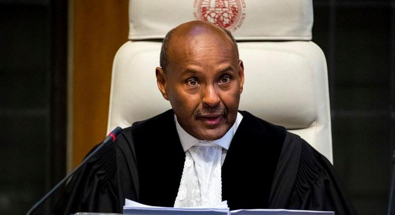 The president of the ICJ, Abdulqawi Ahmed Yusuf.