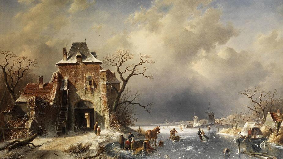 Zima na obrazie Charlesa Leickerta