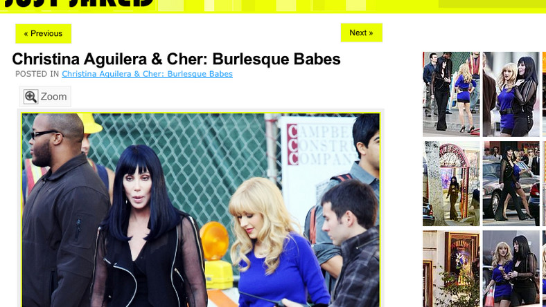 """Cher i Christina Aquilera na planie """"Burlesque"""""""