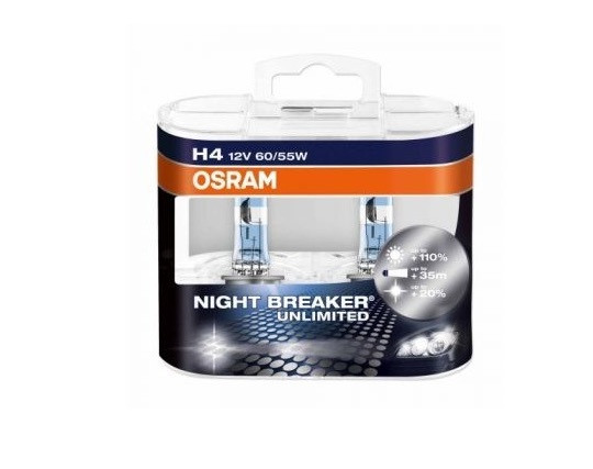 Osram H4 12V 60/55W P43t Night Breaker Unlimited