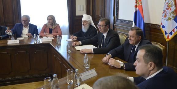 Sastanku su prisustvovali i ministri u vladi Srbije