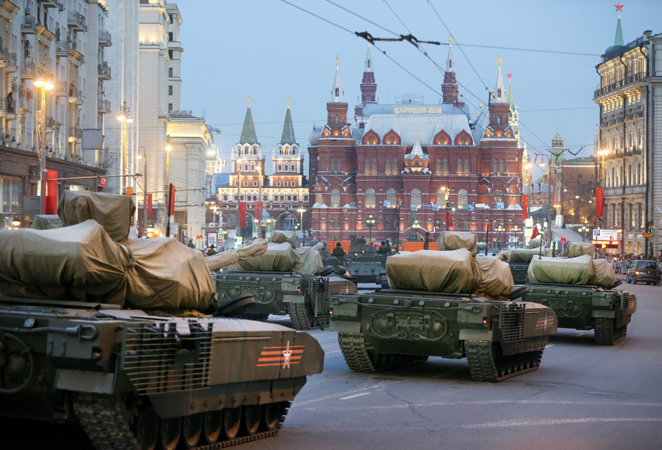 RUSSIA VICTORY DAY  (Rehearsal 70th anniversary of the end of World War II)
